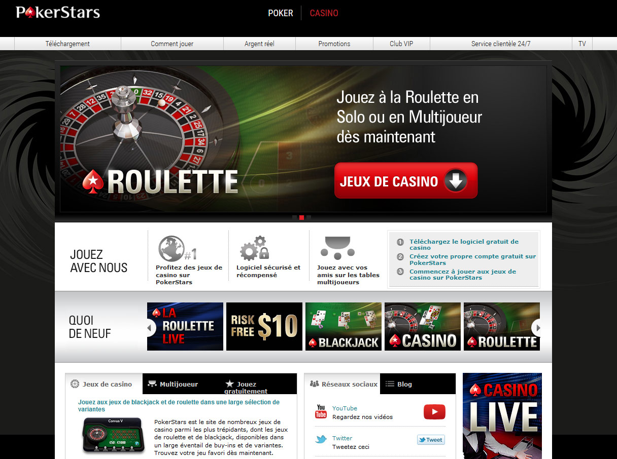 pokerstars casino test