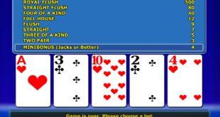 Les règles de base pour jouer au video poker en ligne.