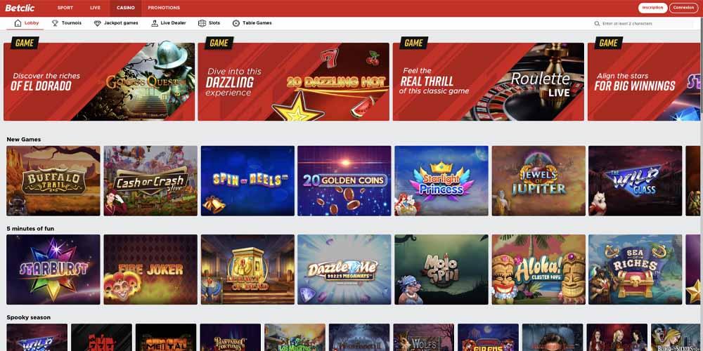 screenshot betclic games